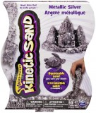 Кинетический песок Kinetic Sand Metallic, серебряный