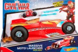 Мотоцикл с пускателем Marvel красный, Hot Wheels