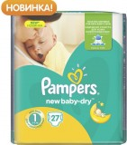 Подгузники Pampers New Baby, 2-5 кг, 27 шт