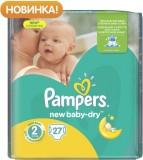 Подгузники Pampers New Baby Mini, 3-6 кг, 27 шт