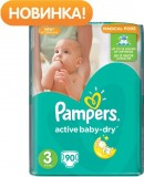 Подгузники Pampers Active Baby Midi, 4-9 кг, 90 шт