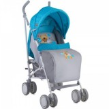 Коляска Bertoni Fiesta c чехлом, blue grey hello bear
