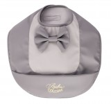 Слюнявчик Bjallra Couture Grey Bow