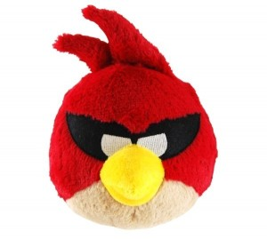 Птичка красная Angry Birds Space озвучена, 12 см