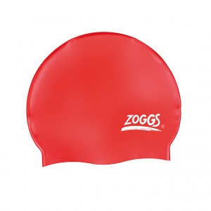 Шапочка для плаванья Silicone Cap Plain, Red
